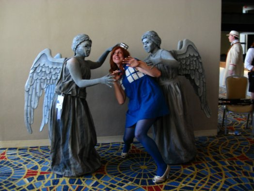 Image result for bodypaint doctor who weeping angels